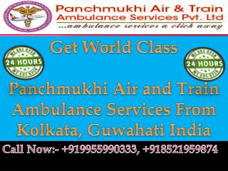 Get World Class Air Ambulance Services from Kolkata Guwahati without Paying Huge Money