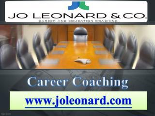 Career Coaching  - joleonard.com