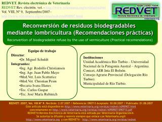 REDVET. Revista electr nica de Veterinaria   REDVET Rev. electr n. vet. - veterinaria