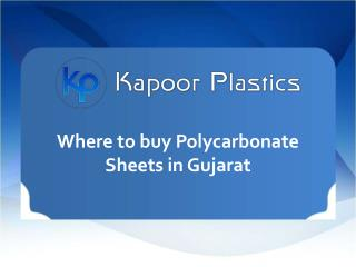 Where to Buy Polycarbonate Sheets in Gujarat
