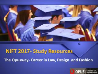 NIFT 2017- Study Resources