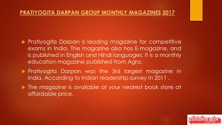 Pratiyogita Darpan Group Monthly Magazines
