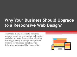 Why Your Business Should Upgrade to a Responsive Web Design?