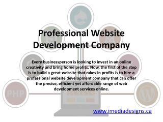 Professional Website Development Company Canada - iMedia Designs