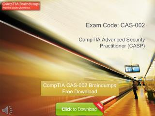 Free CAS-002 Real Exam PDF Files