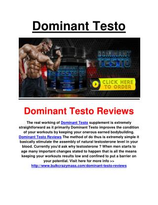 http://www.bulkcrazymass.com/dominant-testo-reviews