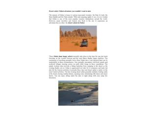 Desert safari- Dubai adventure you wouldn't want to miss