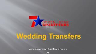 Seven Star Chauffeurs - Top Notch Wedding Transfers in Melbourne