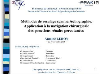 Soutenance de th se pour l obtention du grade de  Docteur de l Institut National Polytechnique de Grenoble
