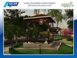 LUXURY AT ITS BEST IN AKAR HEIGHTS - A RESIDENTIAL PROPERTY IN GOA