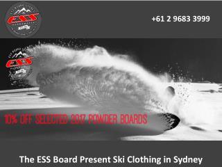 The ESS Board Present Ski Clothing in Sydney