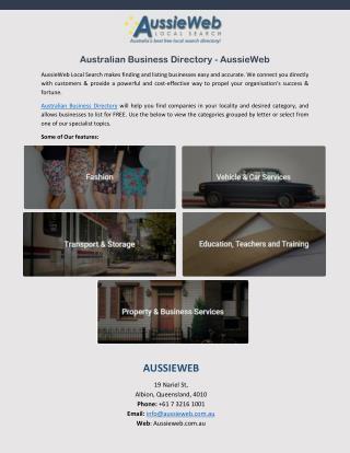 Australian Business Directory – AussieWeb