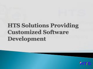 HTS Solutions Providing Customized Software Development