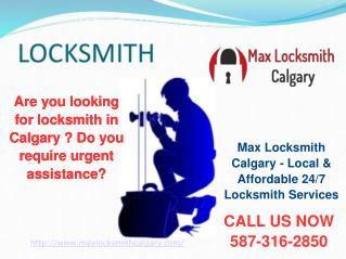 Max Locksmith Calgary | Residential, Commercial & Automotive Locksmith Services