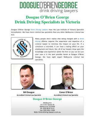 Doogue O'Brien George Drink Driving Specialists in Victoria