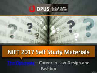 NIFT 2017 Self Study Materials