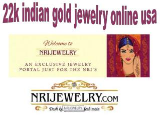 Indian jewellery stores in US