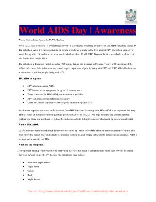 World AIDS Day | Awareness