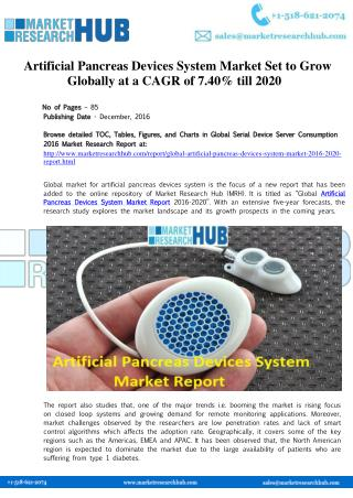 Global Artificial Pancreas Devices System Market Report