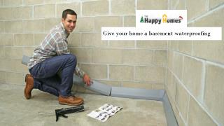 Give your home a basement waterproofing