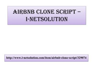 Airbnb Clone Script – i-Netsolution