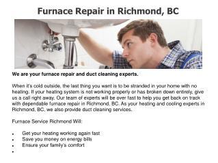 Boiler repair in Vancouver
