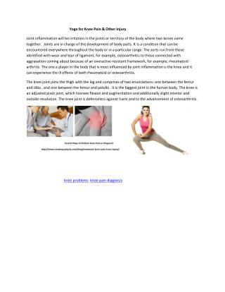 Yoga for Knee Pain & Other Injury