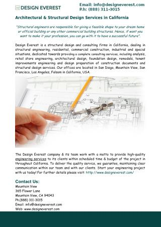 Structural Design Services in California