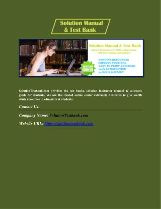 Get Free Sample & Test Banks for Textbooks at Best Price