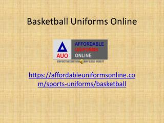 Basketball uniforms online
