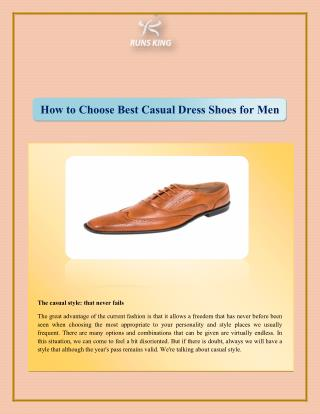 How to Choose Best Casual Dress Shoes for Men