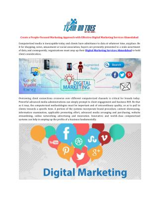 Create a People-Focused Marketing Approach with Effective Digital Marketing Services Ahmedabad