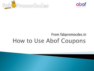 how to use abof coupons