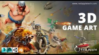 3D Mobile Game Development Company in India-Red Apple Technologies