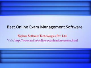 Best Online Exam Management Software