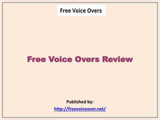 Free Voice Overs Review