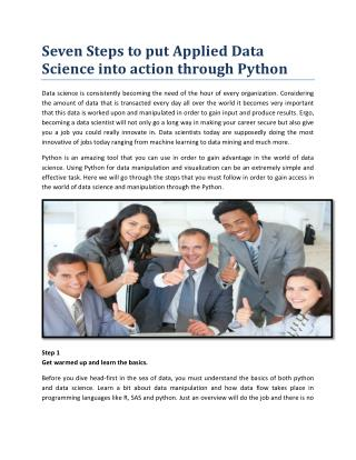 7 Ways you can learn Applied Data Science through Python