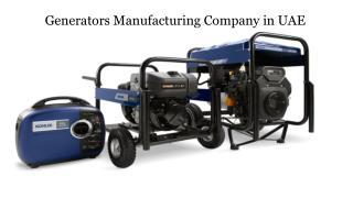 Generators Manufacturing Company in UAE