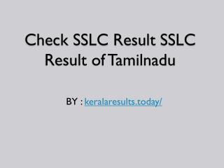 envisionTamilnadu SSLC Results 2017