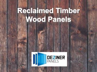 Reclaimed Timber Wood Panels