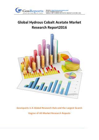 Global Hydrous Cobalt Acetate Market Research Report 2016