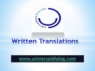 Written Translations - universaldialog.com