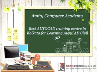 Best AUTOCAD training centre in Kolkata for Learning AutoCAD Civil 3D