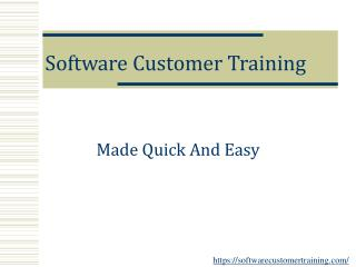 Software Customer Training
