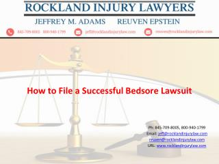 How Do You File a Successful Bedsore Lawsuit?