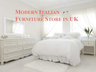 Modern italian furniture store in UK