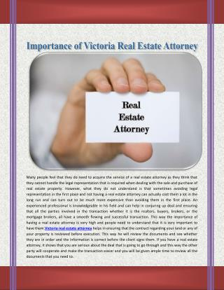 Victoria Real Estate Attorney