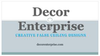 Top Gypsum False Ceiling Contractor in Kolkata - Decor Enterprise