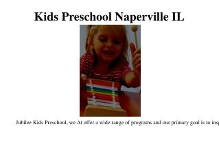 Preschool programs Naperville