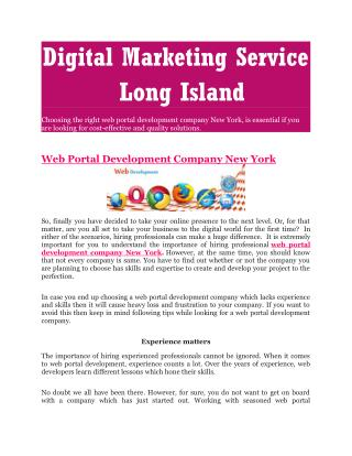 Digital Marketing Service Long Island
